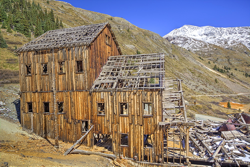 Animas Forks Mine ruins, Animas Forks, Colorado, United States of America, North America
