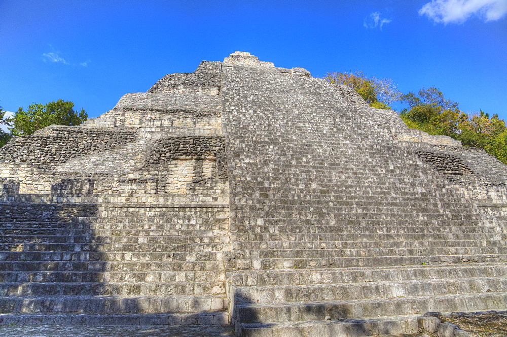 Structure IX, Becan, Mayan ruins, Campeche, Mexico, North America