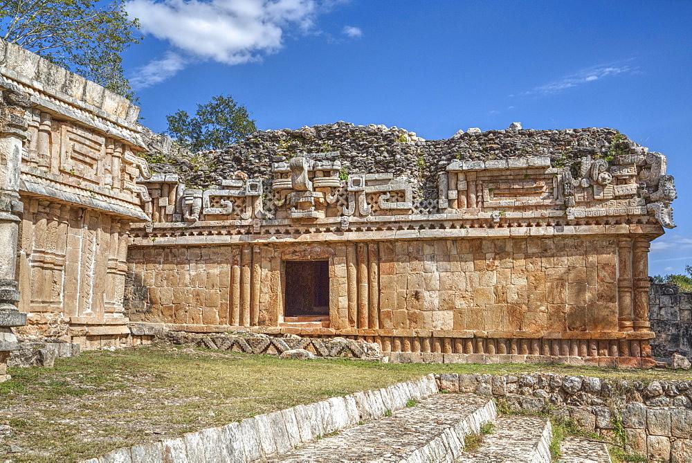 Chac Mask (Rain God), The Palace, Labna, Mayan Ruins, Yucatan, Mexico, North America