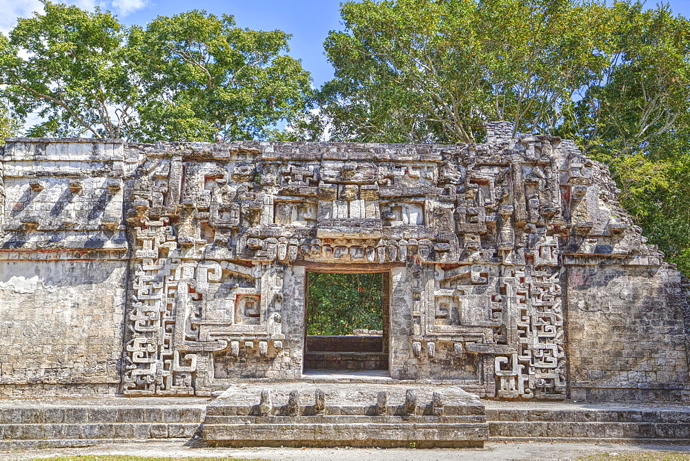 Monster Mouth Doorway, Structure II, Chicanna, Mayan archaeological site, Late Classic Period, Campeche, Mexico, North America