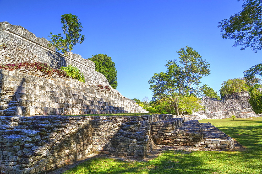 Temple of the King, Kohunlich, Mayan archaeological site, Quintana Roo, Mexico, North America
