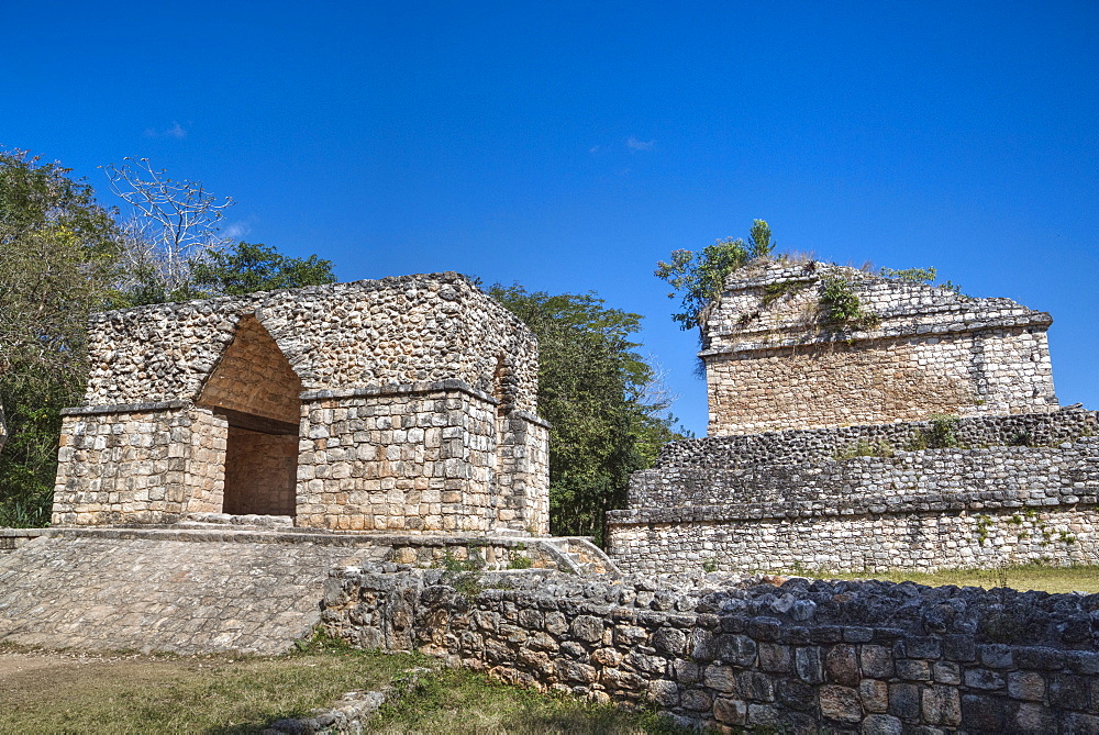 Corbelled Arch, Ek Balam, Mayan archaeological site, Yucatan, Mexico, North America