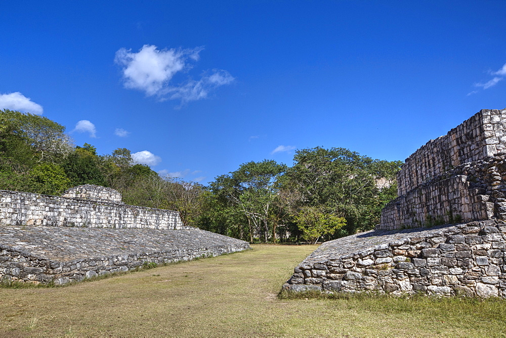 Ball Court, Ek Balam, Mayan archaeological site, Yucatan, Mexico, North America