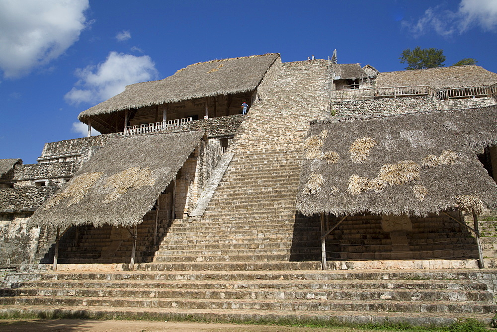 The Acropolis, Ek Balam, Mayan archaeological site, Yucatan, Mexico, North America