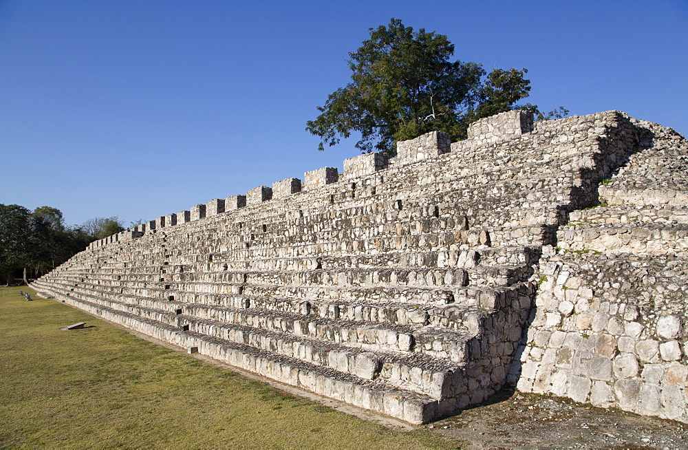 Nohochna (Large House), Edzna, Mayan archaeological site, Campeche, Mexico, North America