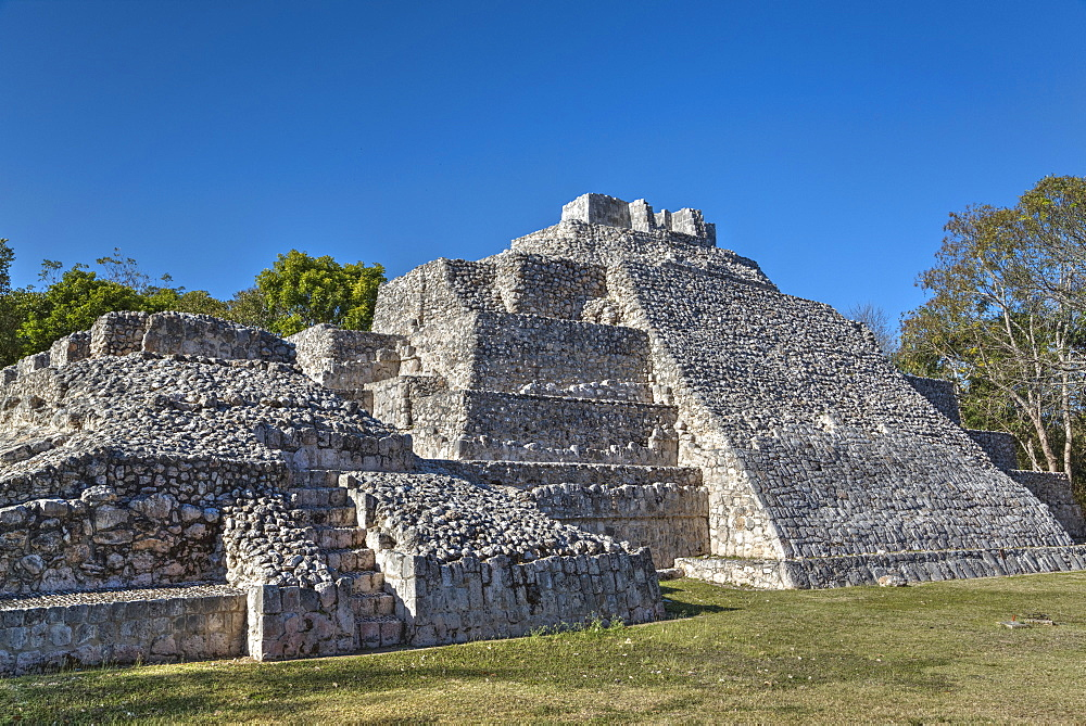 Temple of the South, Edzna, Mayan archaeological site, Campeche, Mexico, North America