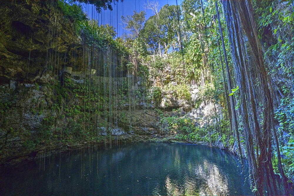 Cenote Ik Kil, near Chichen Itza, Yucatan, Mexico, North America