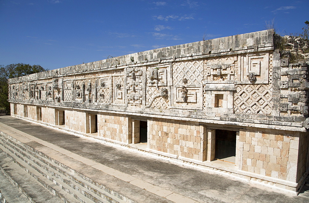 Nuns Quadrangle, Uxmal, Mayan archaeological site, UNESCO World Heritage Site, Yucatan, Mexico, North America