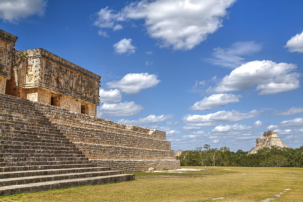 Palace of the Governor, Uxmal, Mayan archaeological site, UNESCO World Heritage Site, Yucatan, Mexico, North America
