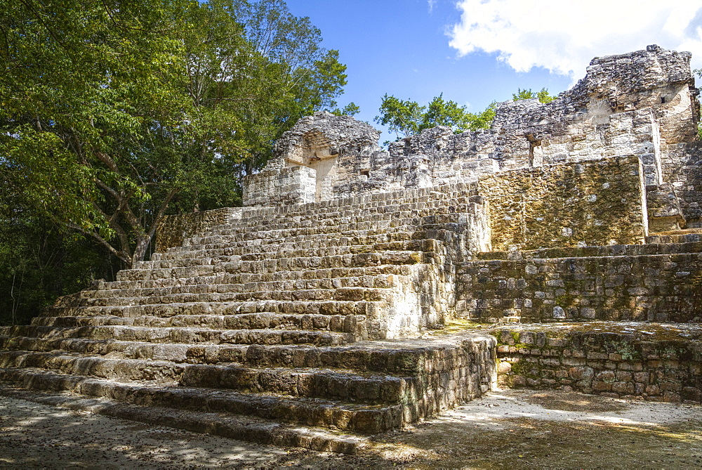 Structure 3, Early Classic Period, Calakmul Mayan Archaeological Site, UNESCO World Heritage Site, Campeche, Mexico, North America