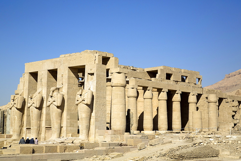 Hypostyle Hall, The Ramesseum, Luxor, West Bank, Thebes, UNESCO World Heritage Site, Egypt, North Africa, Africa