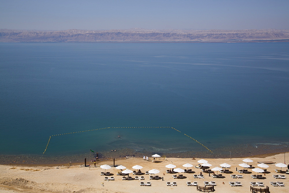 Beach swimming area, Crown Plaza Dead Sea Hotel, Dead Sea, Jordan, Middle East
