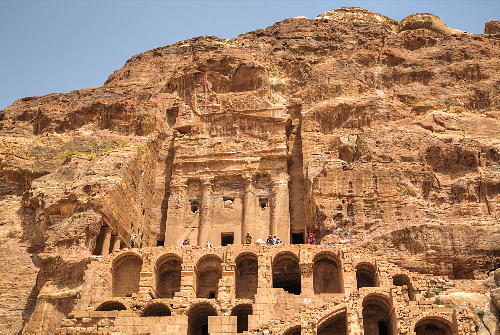 Urn Tomb, Royal Tombs, Petra, UNESCO World Heritage Site, Jordan, Middle East