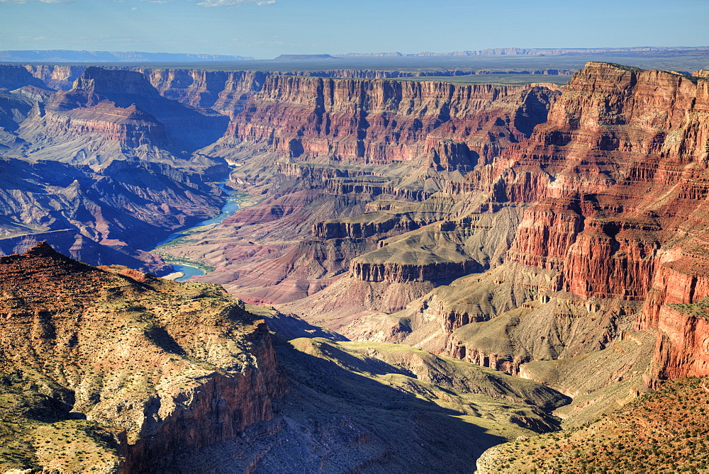 Colorado River below, South Rim, Grand Canyon National Park, UNESCO World Heritage Site, Arizona, United States of America, North America - 801-1828
