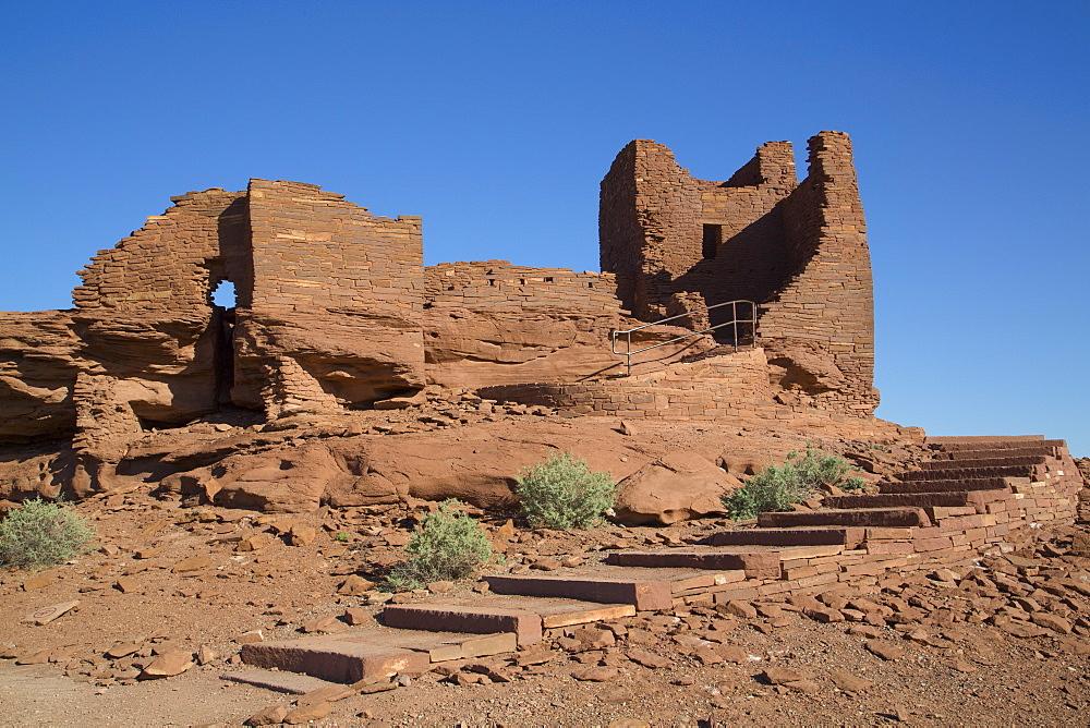 Wukoki Pueblo, inhabited from approximately 1100 AD to 1250 AD, Wupatki National Monument, Arizona, United States of America, North America