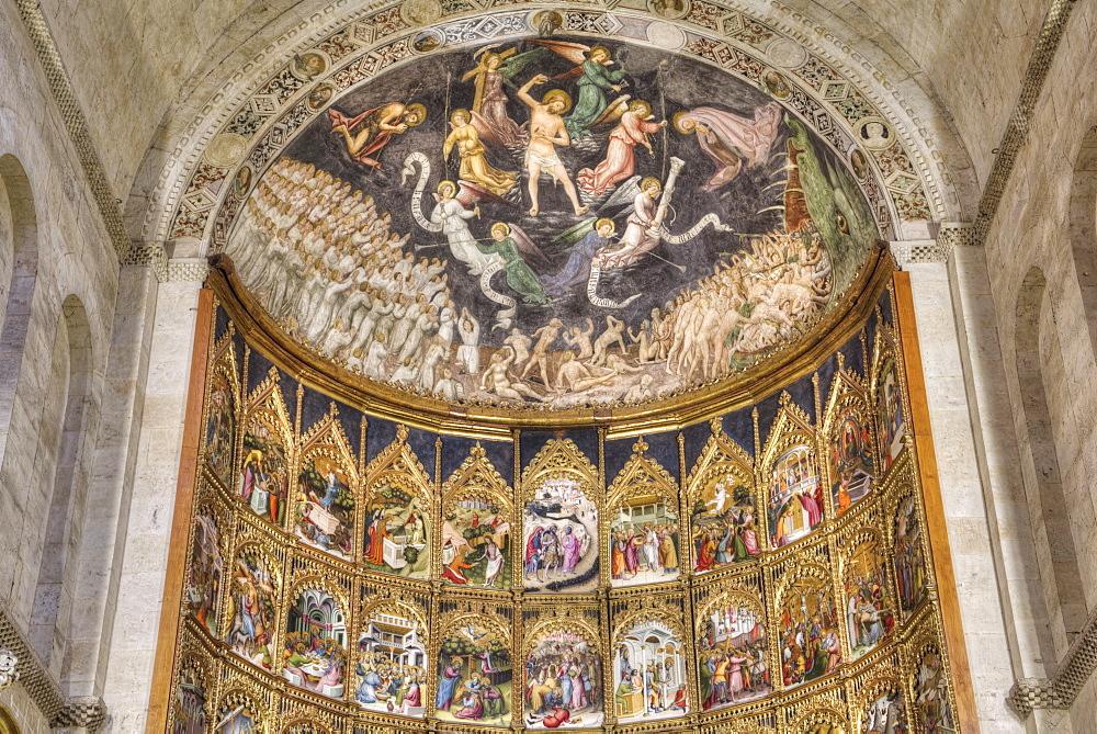 Retable, Old Cathredal of Salamanca, Salamanca, UNESCO World Heritage Site, Castile y Leon, Spain, Europe