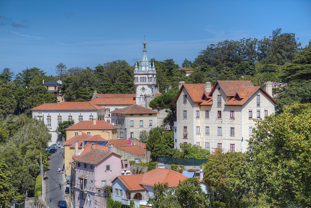 City overview, Sintra, UNESCO World Heritage Site, Portugal, Europe