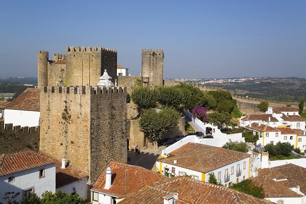Medieval Castle, Obidos, UNESCO World Heritage Site, Portugal