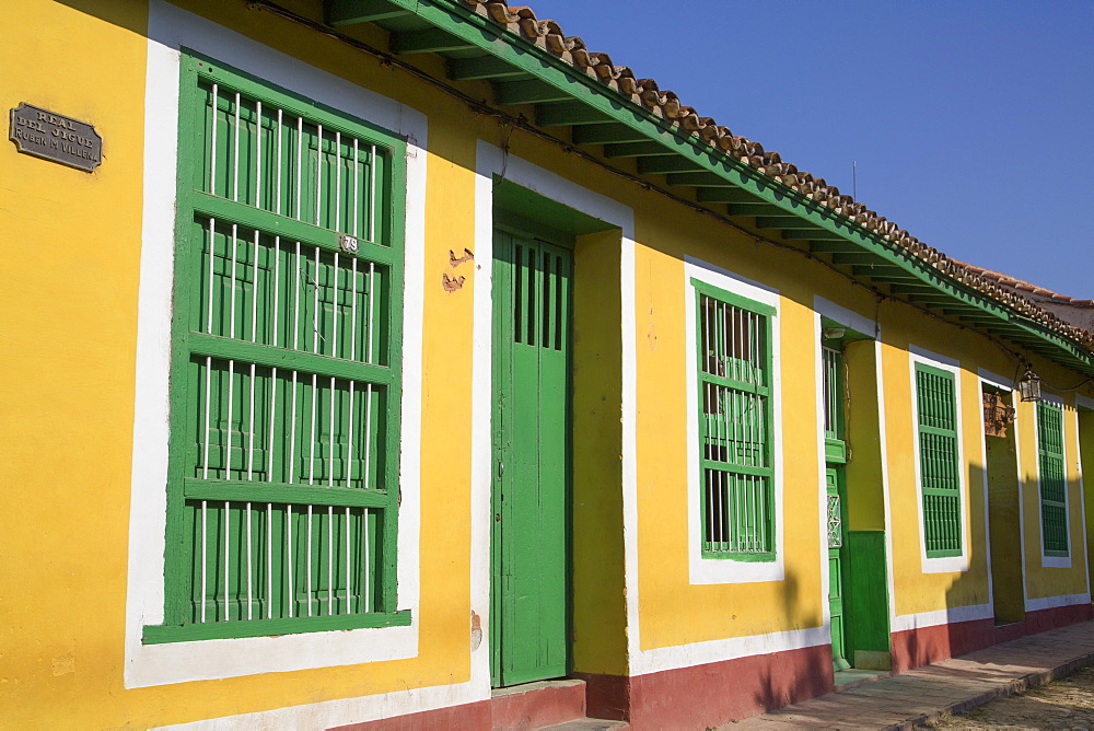 Traditional windows and doorways, Trinidad, UNESCO World Heritage Site, Sancti Spiritus, Cuba, West Indies, Central America