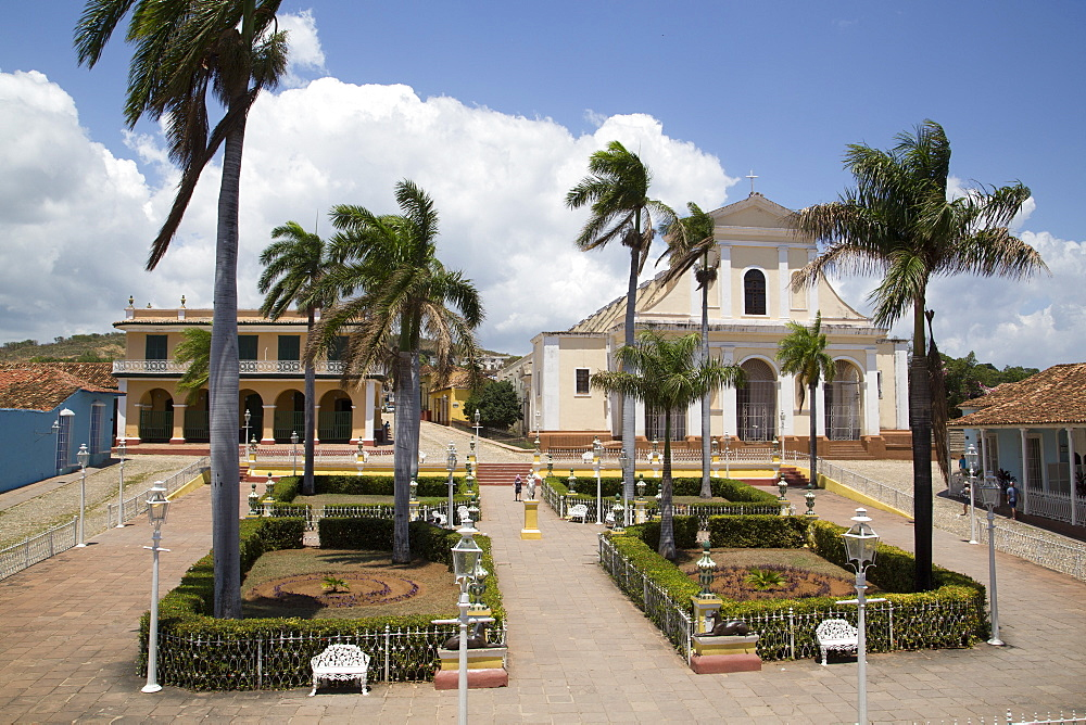 Iglesia Parroquial de la Santisima Trinidad, Plaza Mayor, Trinidad, UNESCO World Heritage Site, Sancti Spiritus, Cuba, West Indies, Central America
