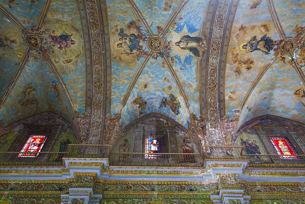 Cieling Murals, Iglesia de Nuestra Senora de la Merced, La Habana Vieja, UNESCO World Heritage Site, Havana, Cuba
