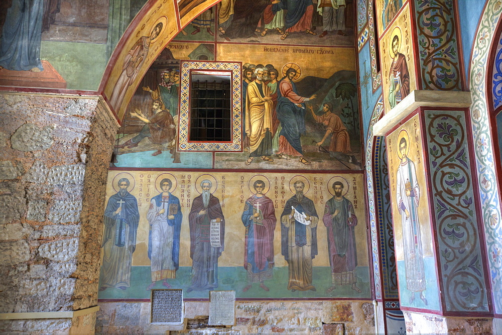 Interior Fresco Paintings, St. Sophia Cathedral, Kremlin, UNESCO World Heritage Site, Veliky Novgorod, Novgorod Oblast, Russia