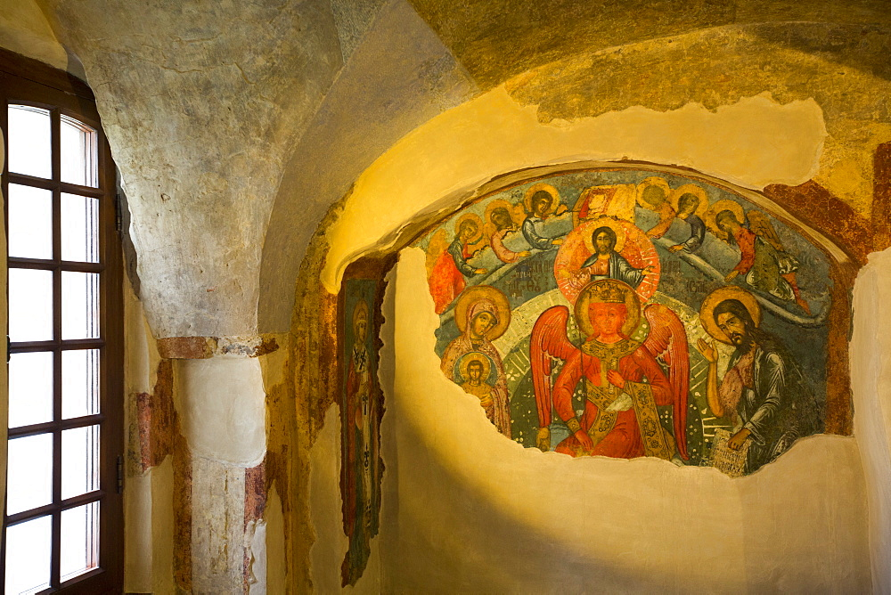 Fresco Paintings, Archbishops Palace, UNESCO World Heritage Site, Kremlin, Veliky Novgorod, Novgorod Oblast, Russia