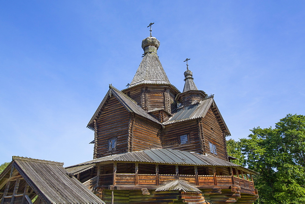 Church of the Nativity of the Holy Virgin, Vitoslavlitsy Museum of Wooden Architecture, Veliky Novgorod, Novgorod Oblast, Russia