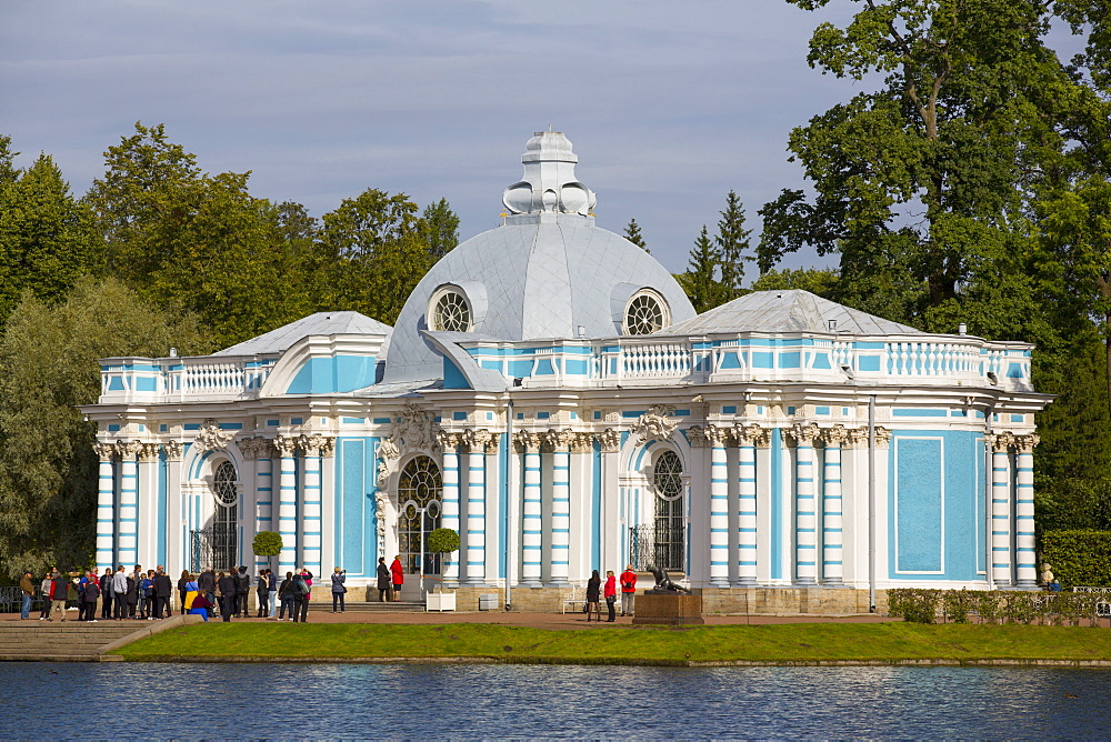 The Grotto (Morning Hall) Pavilion, Tsarskoe Selo, Pushkin, UNESCO World Heritage Site, Russia, Europe