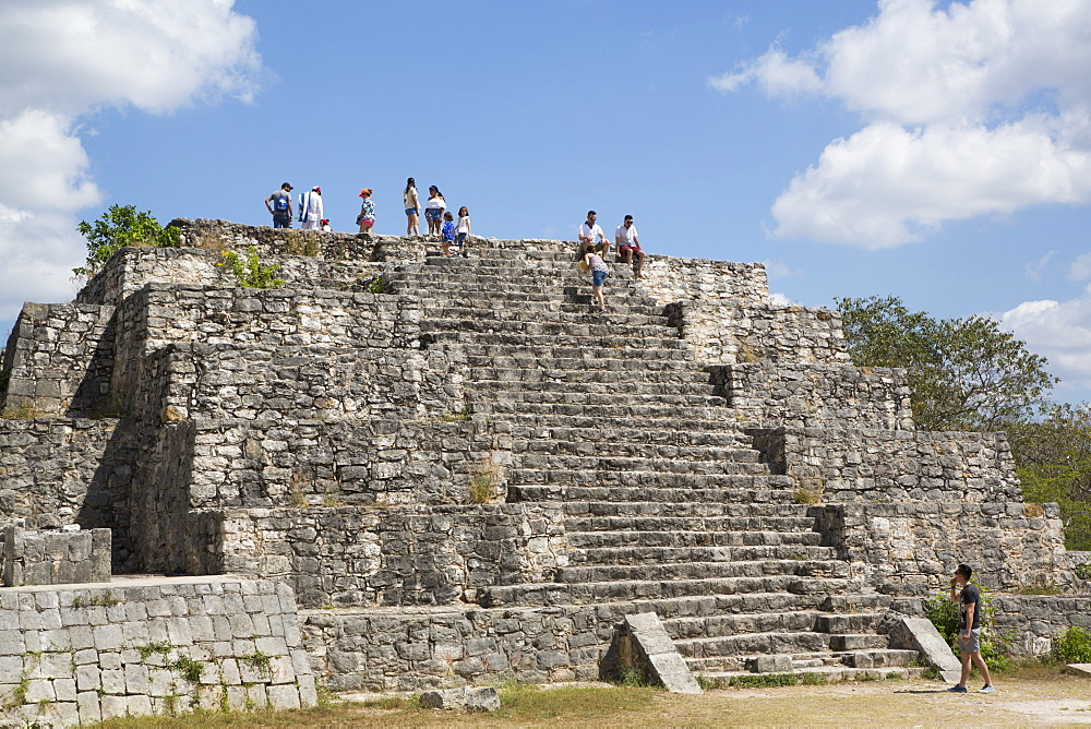 Structure 36, Mayan Ruins, Dzibilchaltun Archaeological Site, 700 to 800 AD, near Merida, Yucatan, Mexico, North America