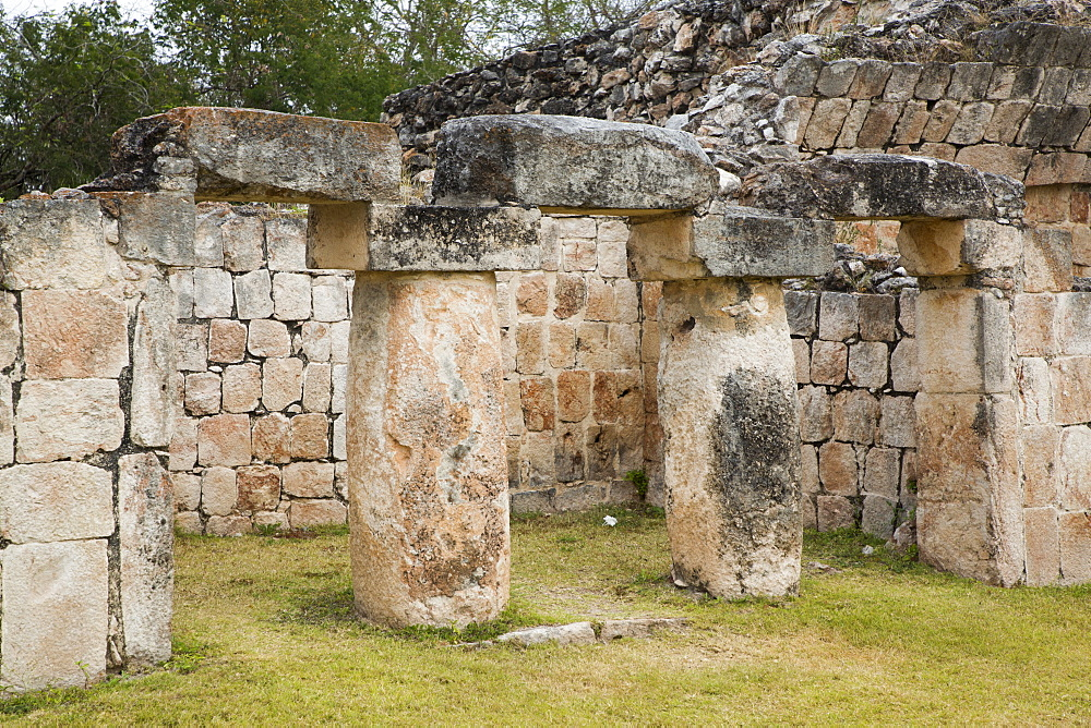 Palace (Teocalli), Kabah Archaeological Site, Mayan Ruins, Puuc style, Yucatan, Mexico, North America - 801-2301