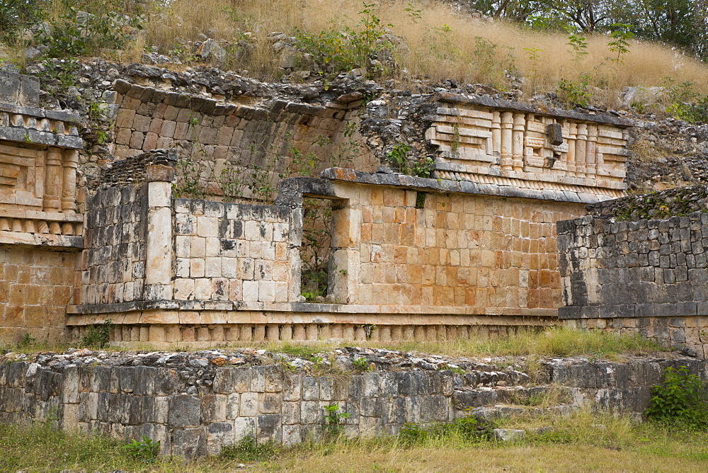 Palace, Labna Archaeological Site, Mayan Ruins, Puuc style, Yucatan, Mexico, North America - 801-2305