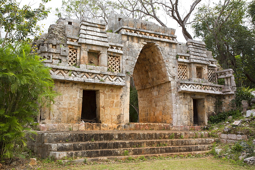 Arch (Arco), Labna Archaeological Site, Mayan Ruins, Puuc style, Yucatan, Mexico, North America - 801-2309