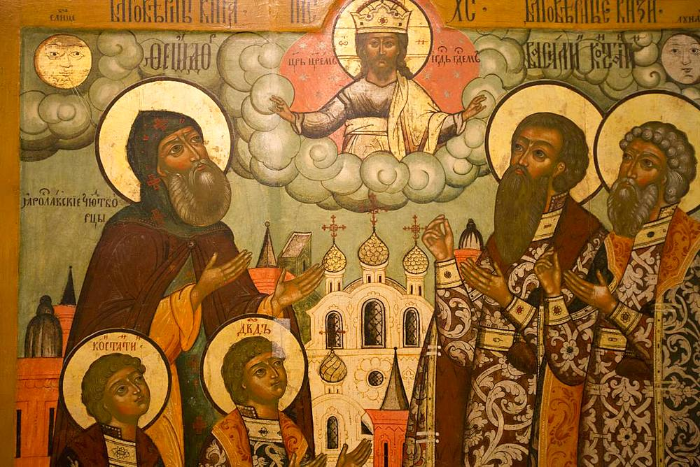 Icons, Kremlin Museum, Rostov Veliky, Golden Ring, Yaroslavl Oblast, Russia, Europe - 801-2329