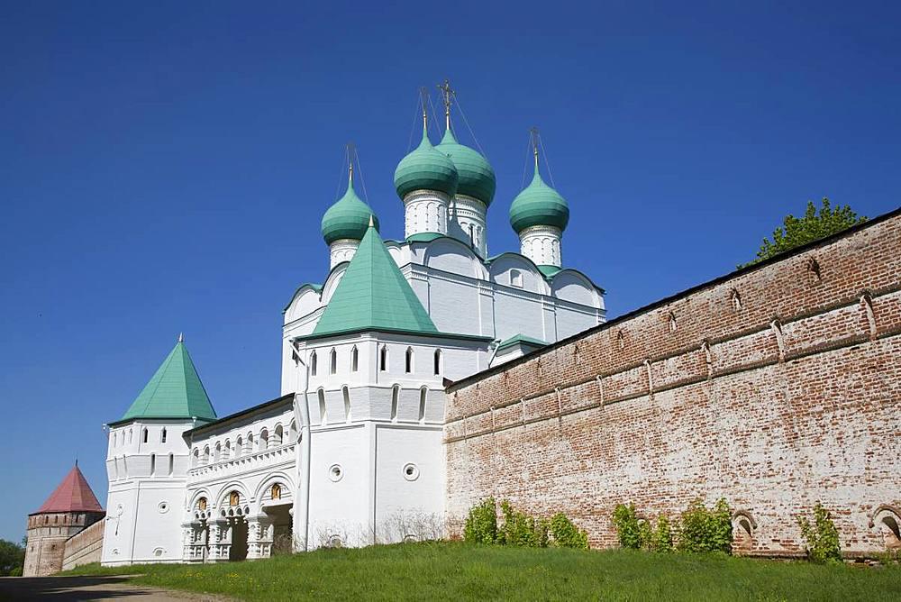 Gate Church, Boris and Gleb Monastery, Borisoglebsky, Golden Ring, Yaroslavl Oblast, Russia, Europe - 801-2339