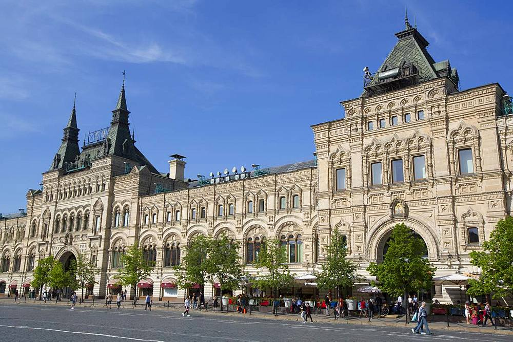 Gum Department Store, Red Square, UNESCO World Heritage Site, Moscow, Russia, Europe - 801-2384