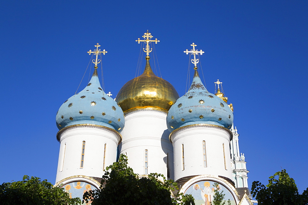 Holy Dormition Cathedral, The Holy Trinity Saint Sergius Lavra, UNESCO World Heritage Site, Sergiev Posad, Russia, Europe - 801-2390