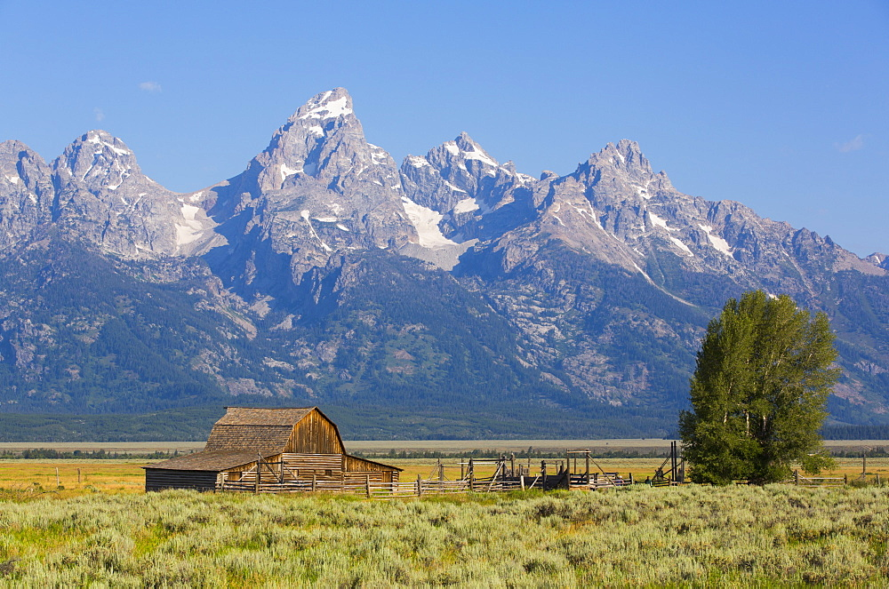 John Moulton Barn, Mormon Row, Grand Teton National Park, Wyoming, United States of America, North America