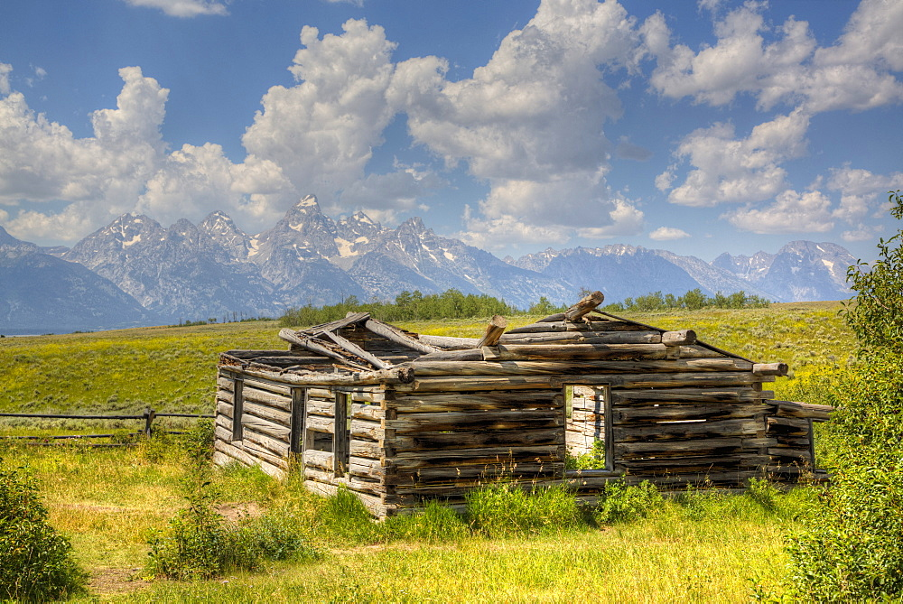 Shane Cabin, Homestead, near Kelly, Grand Teton National Park, Wyoming, United States of America, North America