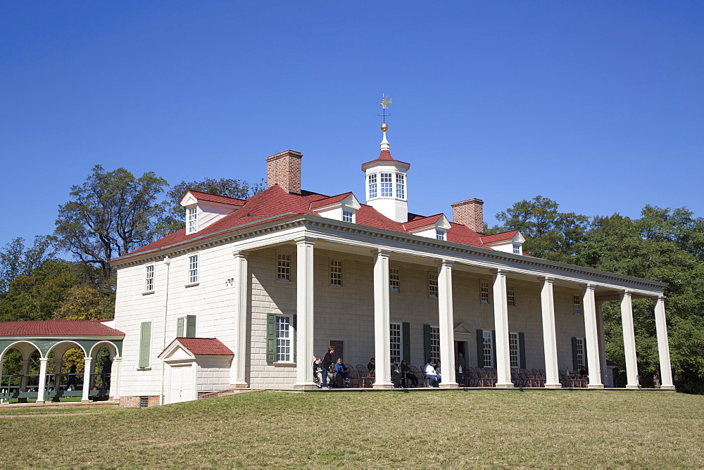 George Washington Mansion, Mount Vernon, Virginia, United States of America, North America - 801-2439