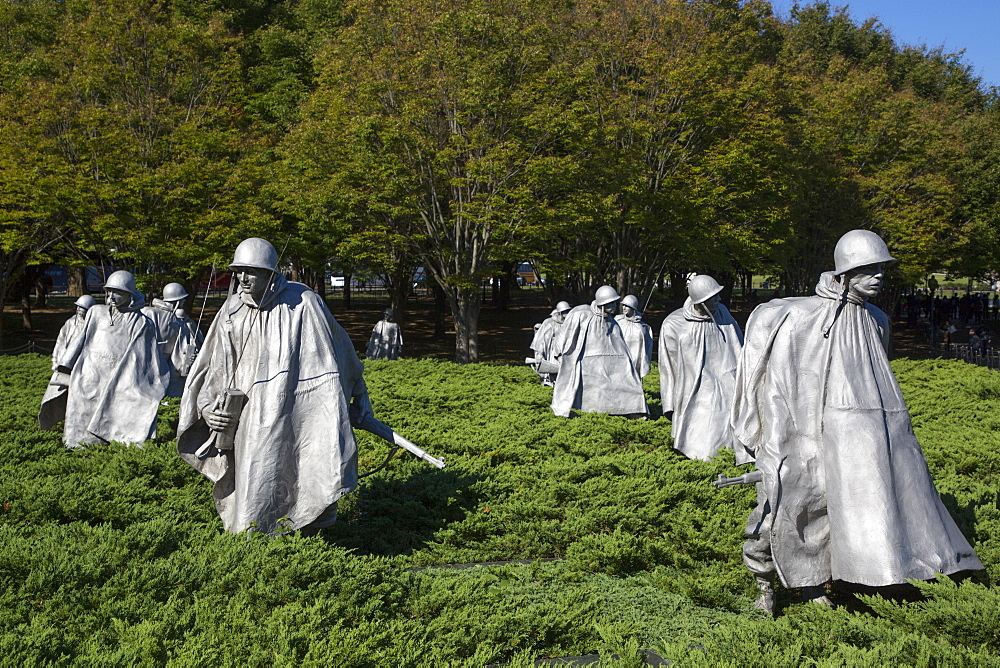Korean War Veterans Memorial, Washington D.C., United States of America, North America - 801-2453