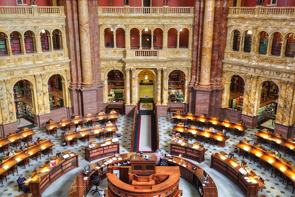 Main Reading Room, Library of Congress, Washington D.C., United States of America, North America - 801-2458
