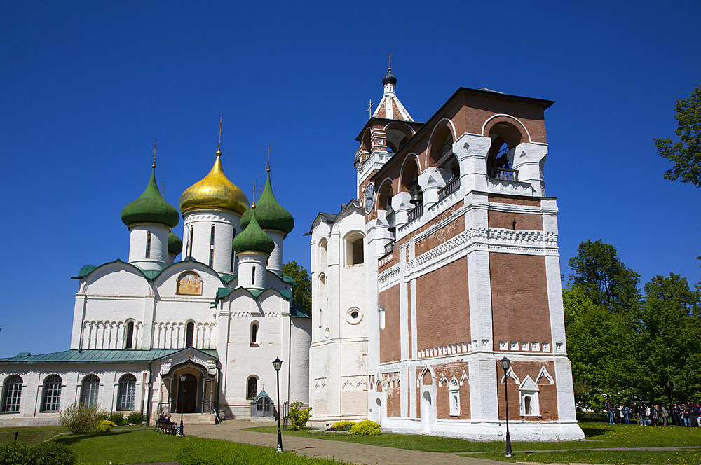 Bell Tower, Saviour Monastery of St. Euthymius, UNESCO World Heritage Site, Suzdal, Vladimir Oblast, Russia, Europe