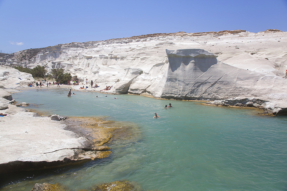 Sarakiniko Beach, Milos Island, Cyclades Group, Greek Islands, Greece, Europe