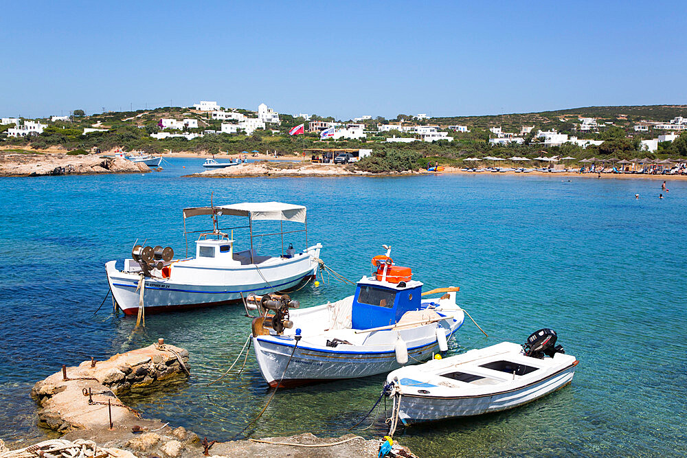 Fishing Boats, Santa Maria Beach Area, Paros Island, Cyclades Group, Greece