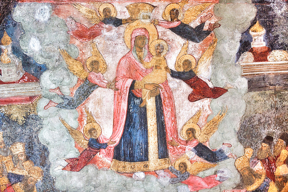 Frescoes, Elijah the Prophet Church, UNESCO World Heritage Site, Yaroslavl, Yaroslavl Oblast, Russia