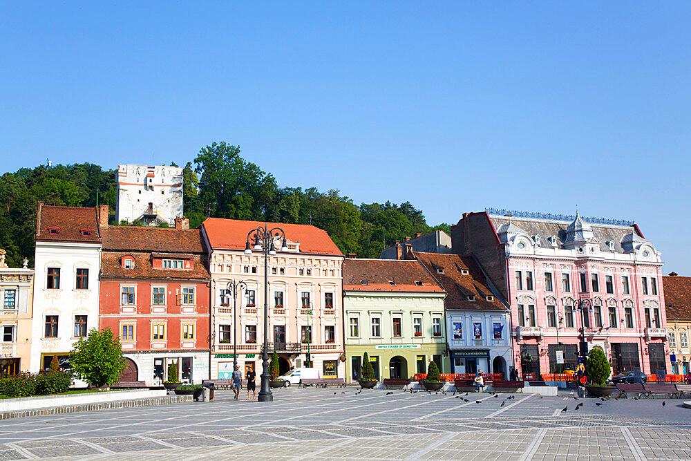 Piata Sfatului (Council Square), Brasov, Transylvania Region, Romania