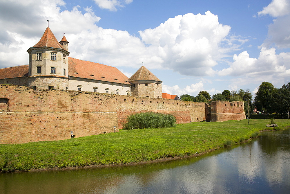 Fagaras Citadel, 14th Century, Fagaras, Brasov County, Transylvania Region, Romania, Europe