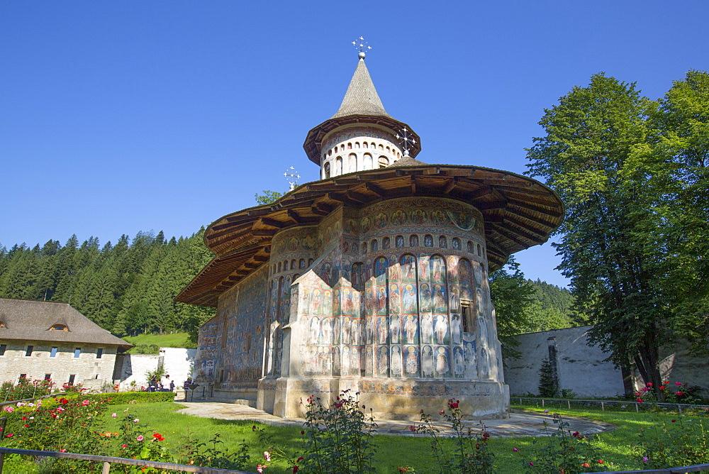 Voronet Monastery, 1487, UNESCO World Heritage Site, Gura Humorului, Suceava County, Romania, Europe - 801-2725