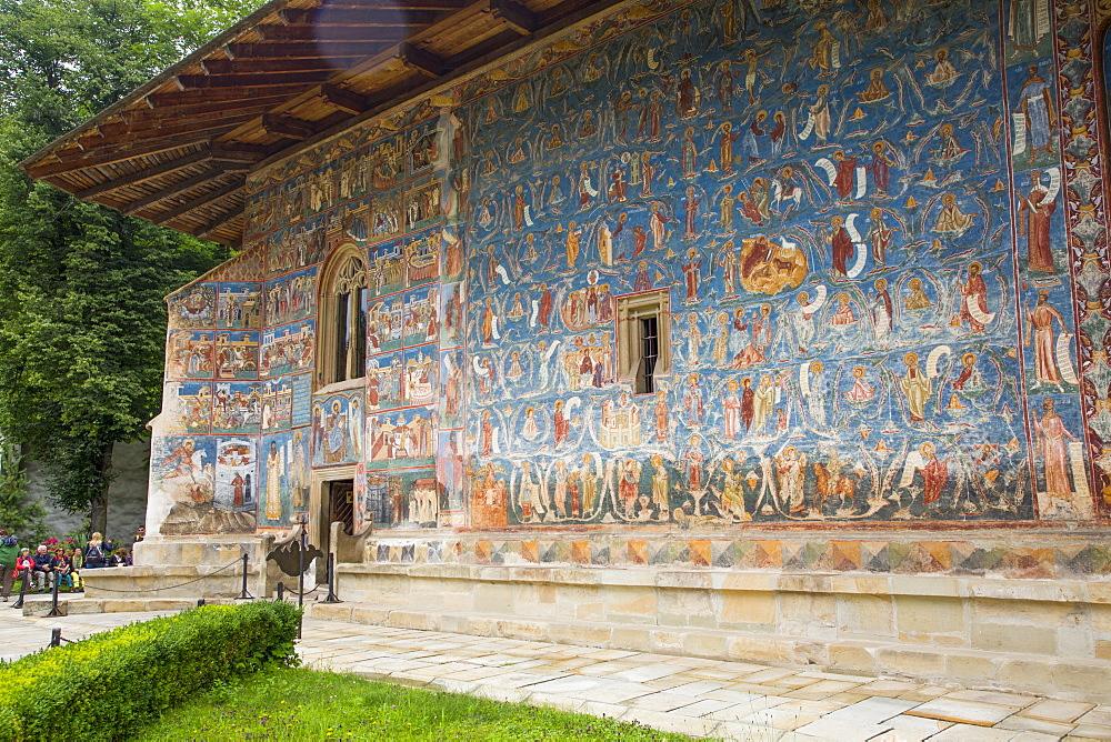 Exterior Frescoes, Voronet Monastery, 1487, UNESCO World Heritage Site, Gura Humorului, Suceava County, Romania, Europe - 801-2728